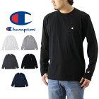 ChampionチャンピオンロングスリーブTシャツ(メンズ長袖ロンT無地無地刺繍BASICベーシックC3-J424)