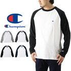 ChampionチャンピオンラグランロングスリーブTシャツ(メンズ長袖ロンT無地刺繍BASICベーシックC3-J425)