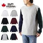 gymmasterジムマスタープレミアムヘビーウェイトガンジーネックカットソー(メンズ長袖Tシャツ無地クレイジーG802303)