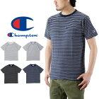 ChampionチャンピオンベーシックボーダーポケットTシャツ/メンズポケTee半袖トップスBASICC3-M352