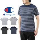 ChampionチャンピオンベーシックパネルボーダーTシャツ/メンズ半袖トップスBASICC3-M352