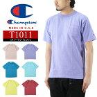 ChampionチャンピオンポケットTシャツ/T1011USTシャツ/メンズ半袖MADEINUSAアメリカ製無地ポケTeeトップスC5-M304