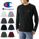 Champion チャンピオン ロング スリーブ Tシャツ ( メンズ 長袖 ロンT 無地 刺繍 BASIC ベーシック C3-J424 )