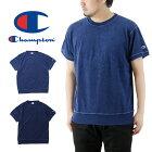 Championチャンピオンインディゴパイル半袖クルーネックTシャツ/メンズトップスTee無地C3-P346