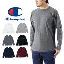 Champion チャンピオン ロング スリーブ Tシャツ / メンズ 長袖 ロンT 無地 刺繍 BASIC ベーシック C3-P401