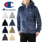 Championチャンピオンジップフーデッドボアフリースパーカージャケット(メンズ羽織り長袖シェルパフリース無地C3-L615)
