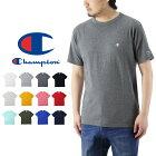 Championチャンピオンワンポイント刺繍Tシャツ/メンズ半袖Teeトップス無地ベーシックC3-P300
