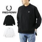 FREDPERRYフレッドペリーTapedCrewNeckSweatshirtテープドクルーネックスウェットシャツ/メンズトレーナー無地F1806