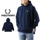 FREDPERRYフレッドペリーTapedHoodedSweatshirtテープドフーデッドスウェットシャツ/メンズプルオーバーパーカー無地F1807