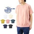 GoodOnグッドオンS/STERRYSHIRTSショートスリーブテリーシャツ/半袖トレーナー無地GOST2006