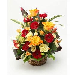 季節のお花 おまかせ フラワーアレンジ Sサイズ 黄色系