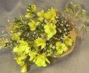 お値段そのまま【送料無料】黄色のフリージアの花束 20本