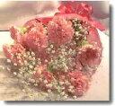 【送料無料】ピンクのカーネーションの花束