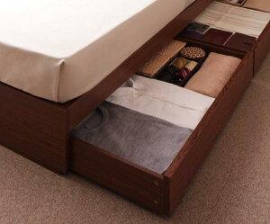 収納ベッド棚・コンセント付き棚・コンセント付き収納ベッド【S.leep】エス・リープ【フレームのみ】セミダブル【受注発注】