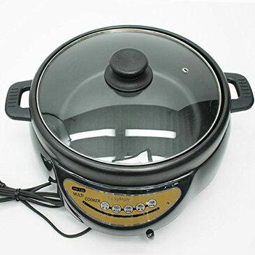 《送料無料》 電気グリル鍋 2.8L 3人前 4人前 電気 グリル鍋 鍋 マルチ 電気鍋 グリルなべ ホットプレート グリルパン 焼肉 ガラス蓋 蓋 寄せ鍋 水炊き すき焼き