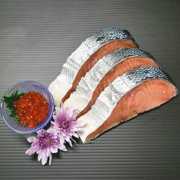 【ふるさと納税】漁師でもなかなか食べることができない『2000本に1本の割合』のオホーツク産天然銀鮭の新巻き(半身)といくら醤油漬のセット