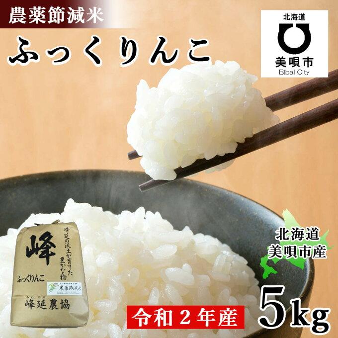 【ふるさと納税】 北海道産農薬節減米ふっくりんこ 5kg (令和2年産) お米 北海...
