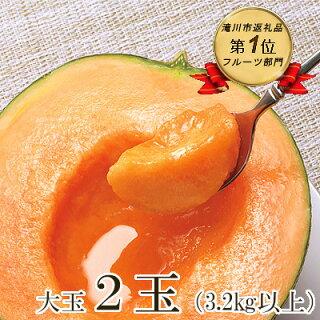 北海道産赤肉メロン大玉 2玉