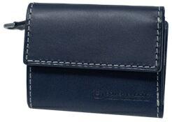 【ふるさと納税】[PA-17] SOMES PA-17 3つ折コンパクトウォレット(ネイビー) 革 革製品 財布