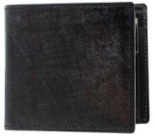 【ふるさと納税】[WF-03] SOMES WF-03 2つ折財布(ブラック) 革 革製品 財布