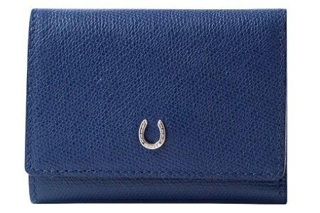 【ふるさと納税】[PT-26] SOMES PT-26 3つ折財布(ブルー) 革 革製品 財布 3つ折