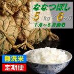 【ふるさと納税】JR048004 無洗米ななつぼし5kg半年定期便(1月〜6月)