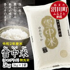 【ふるさと納税】 ゆめぴりか 無洗米 北海道 雪中米 5kg 令和2年産