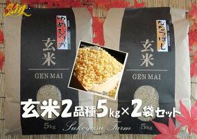 玄米 令和元年産 助安農場 ゆめぴりか ななつぼし 5kg×2 10kg