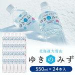 【ふるさと納税】北海道大雪山ゆきのみず550ml×24本入り【601】【1086846】