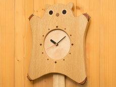 【ふるさと納税】ももんがの木工時計