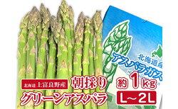 【ふるさと納税】アスパラ専門農家の特選グリーンアスパラ1kg(L〜2L) 【アスパラガス・野菜・グリーンアスパラ・アスパラ・1kg】 お届け:2021年5月20日頃〜2021年6月中旬まで・・・ 画像1