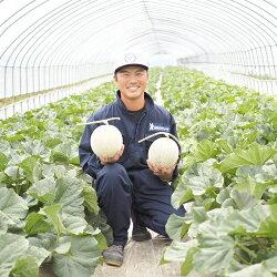 【ふるさと納税】北海道赤肉メロン2玉セット(糖度15°以上3.2kg以上) 画像2