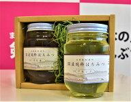 【ふるさと納税】ハチミツセット〈100%北海道産〉<純粋蜂蜜アカシア・百花蜜の2個セット>
