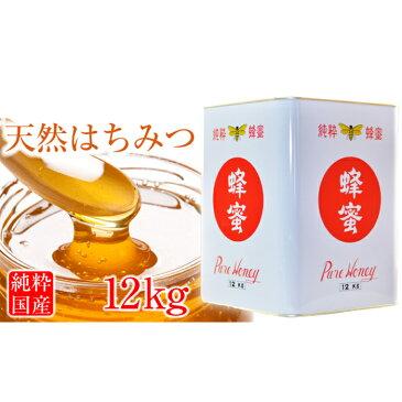 【ふるさと納税】北海道美深産 天然はちみつ12kg(五升缶) 【蜂蜜・はちみつ】