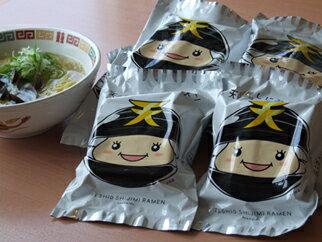 天塩しじみラーメン10個セット (130g(麺90g、スープ40g)、しじみ貝5粒 10個セット)