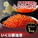 【ふるさと納税】数量限定!いくら醤油漬1kg(容量:500g...