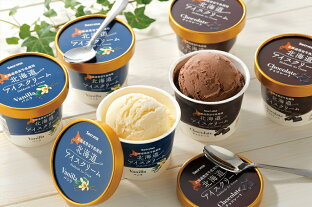 【ふるさと納税】S-01 北海道アイスクリーム 【110ml 2種類 計12個】の画像