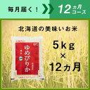 【ふるさと納税】〈新米予約開始!〉12ヵ月定期便!最高のお米「ゆめぴりか」毎月5kgコース