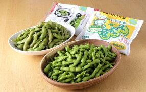 そのままえだ豆は中札内村特産「大袖の舞大豆」、そのまま黒枝豆は黒大豆の「いわい黒」をそれぞれ使用しております。