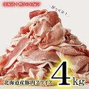 【ふるさと納税】≪1~2カ月待ち≫復活!肉屋のプロ厳選! 北海道産の豚肉 スライス4kg盛り!!(使いやすい500g×8袋)