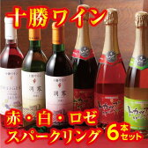 【ふるさと納税】B01-3 十勝ワイン赤・白・ロゼ・スパークリング6本セット