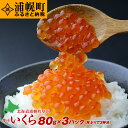 【ふるさと納税】手造り醤油いくら(鮭卵)80g×3パック【北...