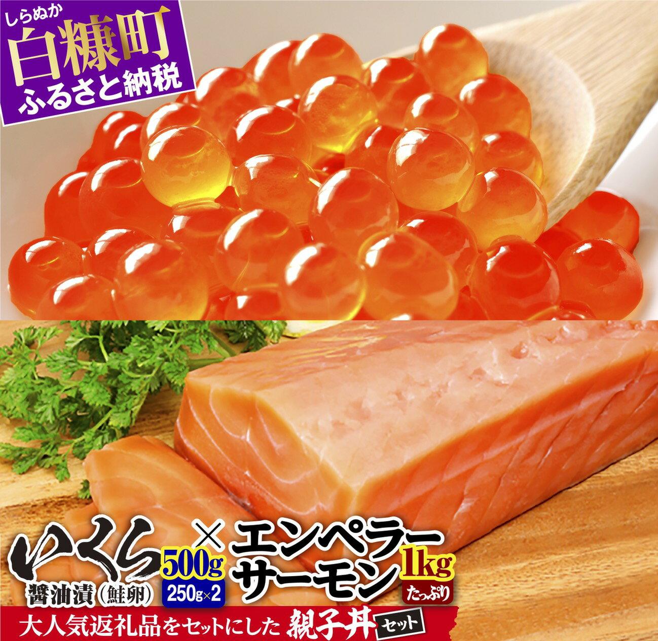 ※2021年10月末までにお届け※大人気★「いくら醤油漬(鮭卵)」×「エンペラーサーモン」の親子丼セット ふるさと納税 いくら