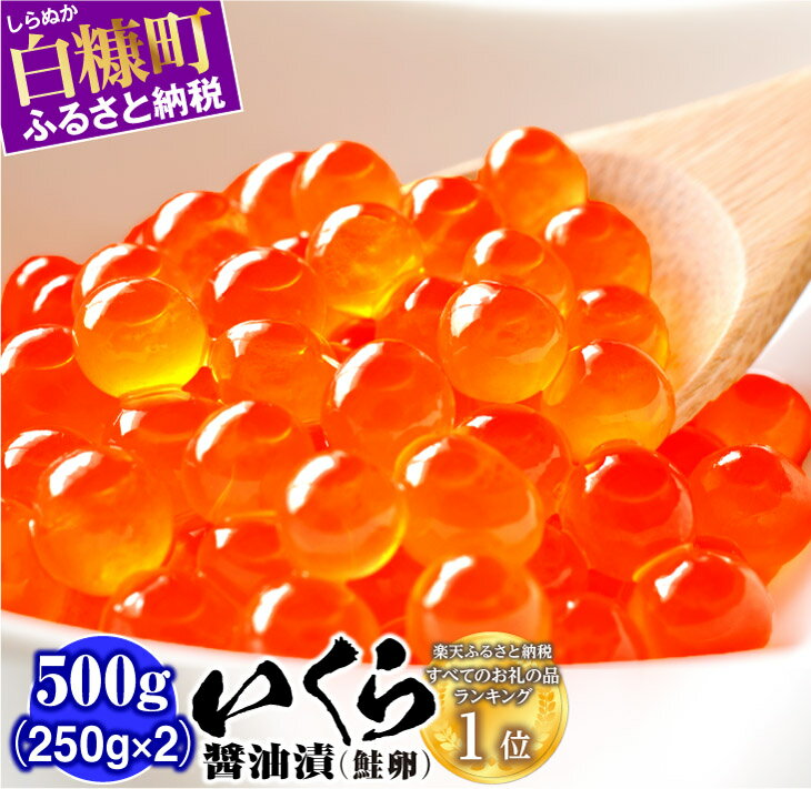 [緊急支援品]いくら醤油漬(鮭卵)[500g(250g×2)] (15,000円) ふるさと納税 いくら