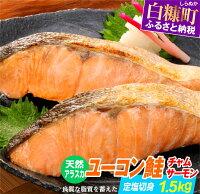 【ふるさと納税】天然アラスカ ユーコン鮭(チャムサーモン)定塩切身【1.5kg】 ふるさと納税 魚