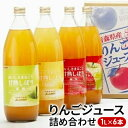 【ふるさと納税】JA相馬村のりんご 無添加りんごジュース詰め合わせ1L×6本【弘前市産・青森りんご】 【飲料類・果汁飲料・りんご・ジュース】