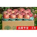 【ふるさと納税】2月 美味・美品 特A 葉とらずサンふじ約10kg【青森りんご・グランド アップル・2月】 【果物類・林檎・りんご・リンゴ】 お届け:2022年2月1日〜2022年2月28日
