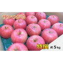 【ふるさと納税】9月 りんご 5kg程度 サンつがる 特選 太田農園【青森りんご・クール便】 【果物類・林檎・りんご・リンゴ・サンつがる・5kg・つがる】 お届け:2021年9月1日〜2021年9月30日