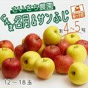 【ふるさと納税】[青森県産りんご]さいきち農園のサンふじ・ぐんま名月セット約4〜5kg(12〜18玉) 【果物類・林檎・りんご・リンゴ・果物類・フルーツ・詰合せ】 お届け:2021年11月5日〜11月30日