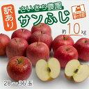 【ふるさと納税】【訳あり】[青森県産りんご]さいきち農園のサンふじ約10kg(28〜36玉) 【果物類・林檎・りんご・リンゴ・くだもの・サンふじ・約10kg】 お届け:2021年11月15日〜2022年1月10日